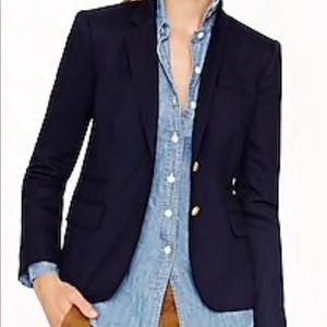 J. Crew Schoolboy Blazer Jacket Navy Wool 2